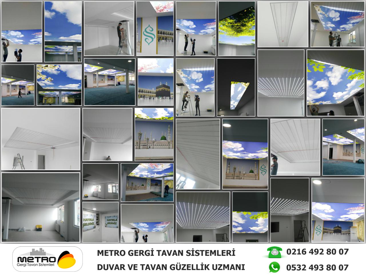 Metro Gergi Tavan Semerkand Montaj