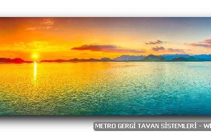 Metro Gergi Tavan için panoramik resim